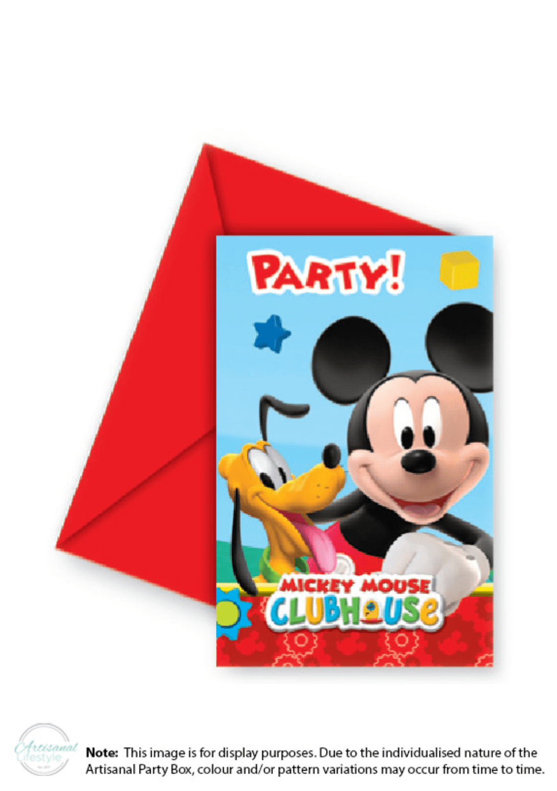 Mickey Mouse Invitations 6 In A Pack
